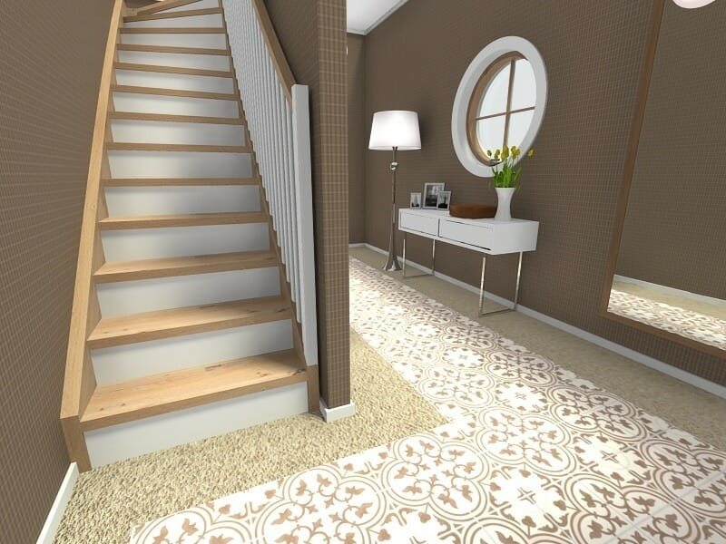 Roomsketcher Blog Visualize Your Staircase Design Online | Simple Staircase Designs For Homes | Stylish | Staircase Woodwork | Living Room | Easy | White