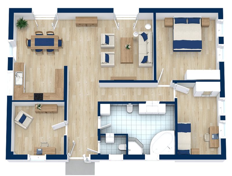 4 bedroom floor plans | roomsketcher
