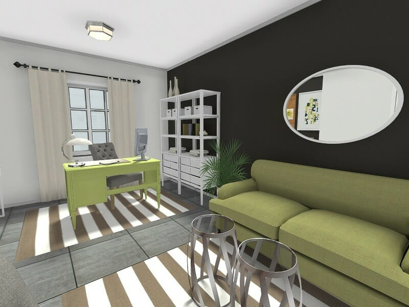 living room office luxury rooms images home ideas roomsketcher desk in