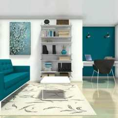 Living Room Office Big Lamps For Ideas Roomsketcher With Built In Home Desk
