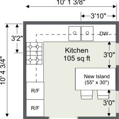 Kitchen Plans Bright Lighting Planner Roomsketcher Design And Floor Created Using Home Designer