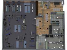 RoomSketcher Gym Planner - 3D Floor Plan of a home gym design