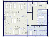 RoomSketcher Gym Planner - 2D Floor Plan of a gym design