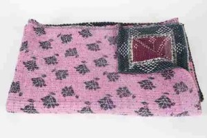 best buy throws Vintage Kantha handmade quilt throw Rebecca's Aix Home