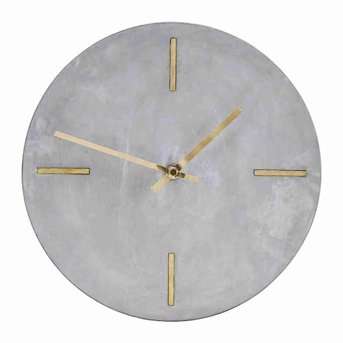 Roomy Home concrete interior luxe Amara House Doctor concrete wall clock