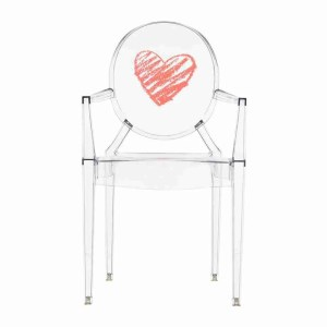 Roomy home interiors with heart Amara Kartell childrens lou lou ghost chair heart £104