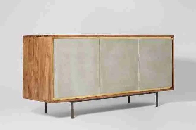 Roomy Home concrete interior luxe Swoon Editions Tahoe sideboard