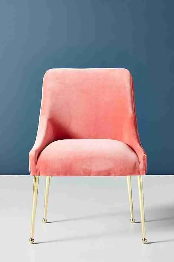 Anthropologie Elowen chair Roomy Home coral interiors