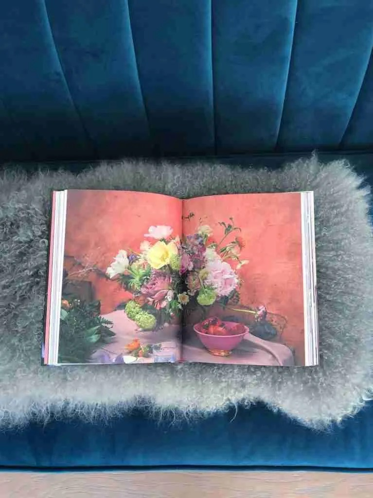 page spread Roomy Home Book review Living with Flowers by Rowan Blossom
