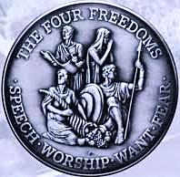 2013 - Logo - The Four Freedoms - Speech, Worship, Want, Fear