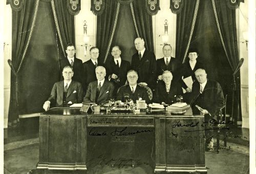 Franklin Delano Roosevelt with First Cabinet c. 1933
