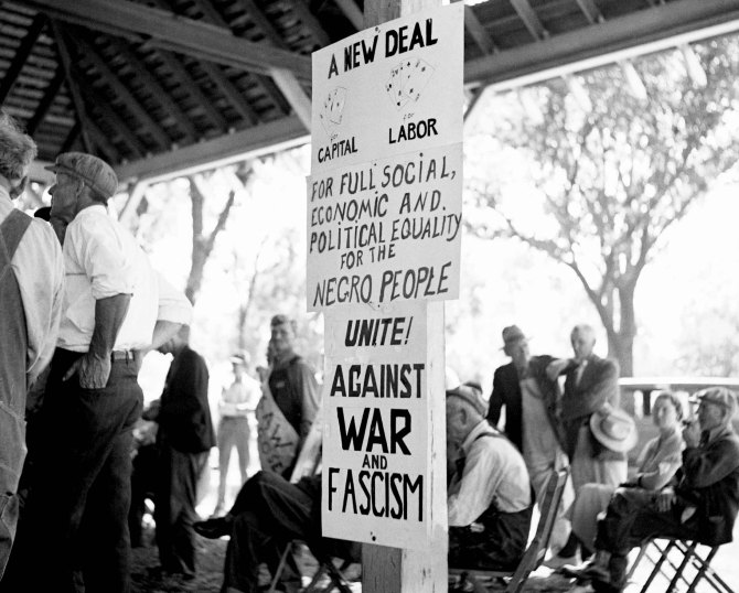 Demonstration of the unemployed.Columbus, Kansas. 1936.
