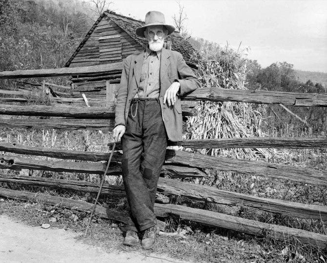 Postmaster Brown, near Shenandoah National Park. Old Rag, Virginia. 1935.