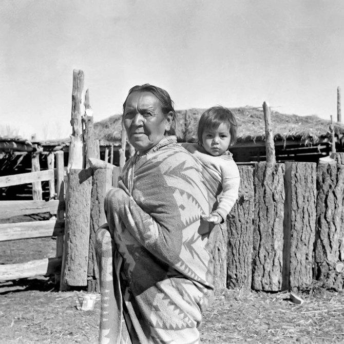 Tribal Governor Santana Sandoval of the Taos Pueblo.New Mexico. 1936.