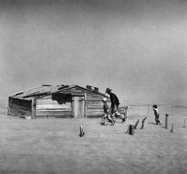 Dust storm, Cimarron County, Oklahoma. 1936