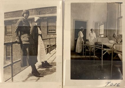 two photographs from hospital