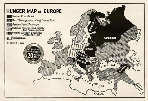 Hunger Map of Europe, December 1918
