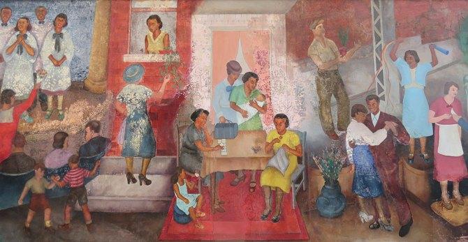 Georgette Seabrooke (1916-2011). Recreation in Harlem. 1937. (NYCHealth+Hospital)