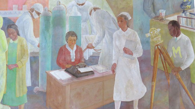 Vertis Hayes (1911-2000). Pursuit of Happiness. 1937. (NYCHealth+Hospital)