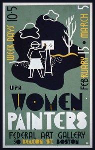 Women painters poster