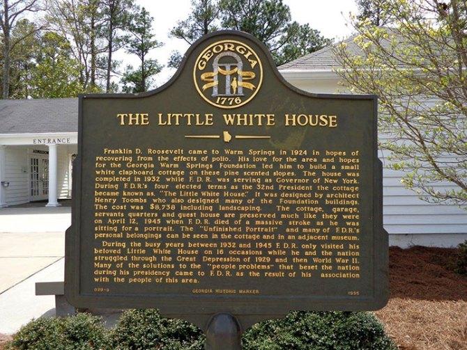 Little White House Sign