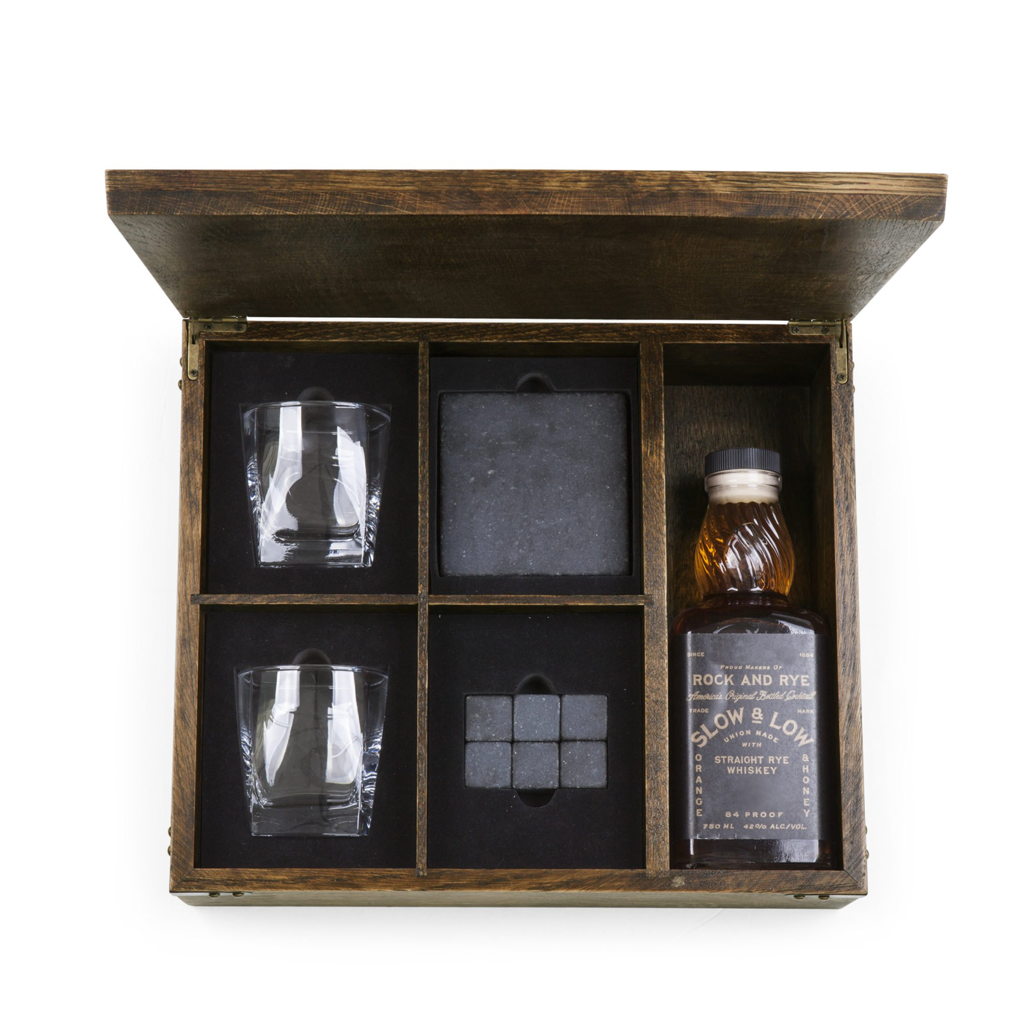 Picnic Time Whiskey Box  Oak Gift Set  Roost and Galley