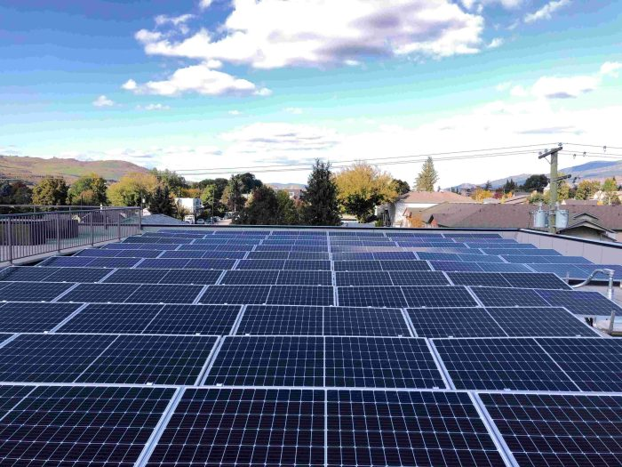 100 panel (39 kW) system in Vernon