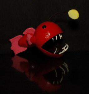 angler fish gourd sculpture