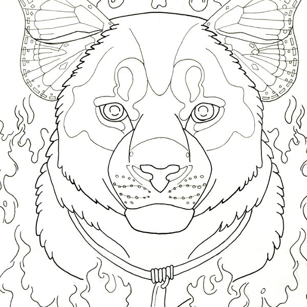 cougar totem coloring page
