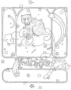 clouded leopard coloring page
