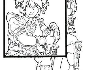 summer avatar coloring page