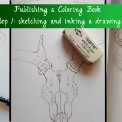 publishing a coloring book sketch