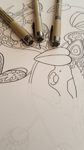 how to create coloring book inking