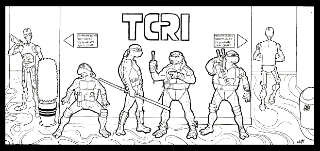 Teenage Mutant Ninja Turtles Coloring Pages - Best Coloring Pages ... | 311x659