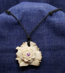 Double Sided Jewelry with Succulent