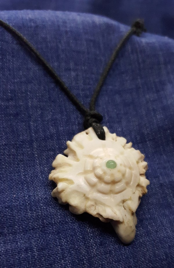 Double Sided Antler Carving Necklace
