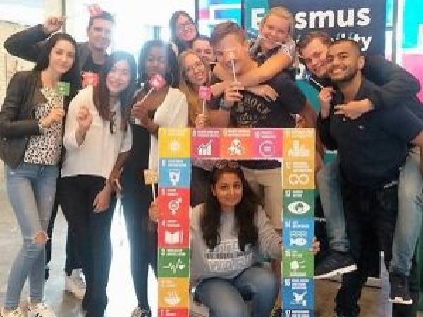 Action by Erasmus Sustainability Hub on the Sustainable Development Goals.