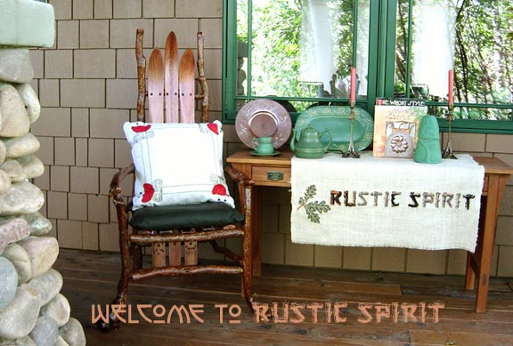 Rustic Arts and Crafts Movement and Adirondack home