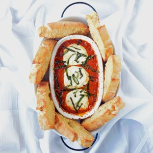 Baked Goat Cheese and Sun-Dried Tomato Dip