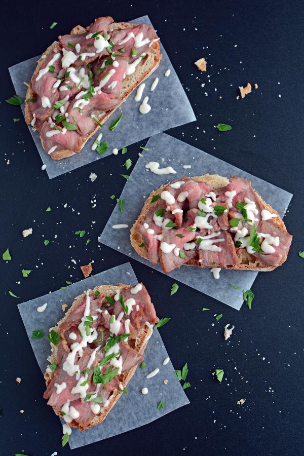 Steak Sandwiches with Gorgonzola Cheese Sauce Recipe 4