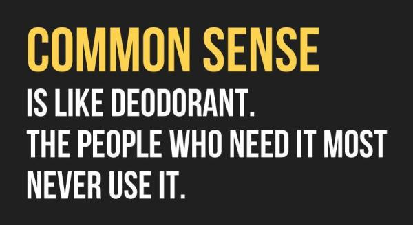 common sense questions