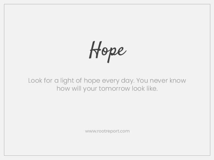 Hope one word quote