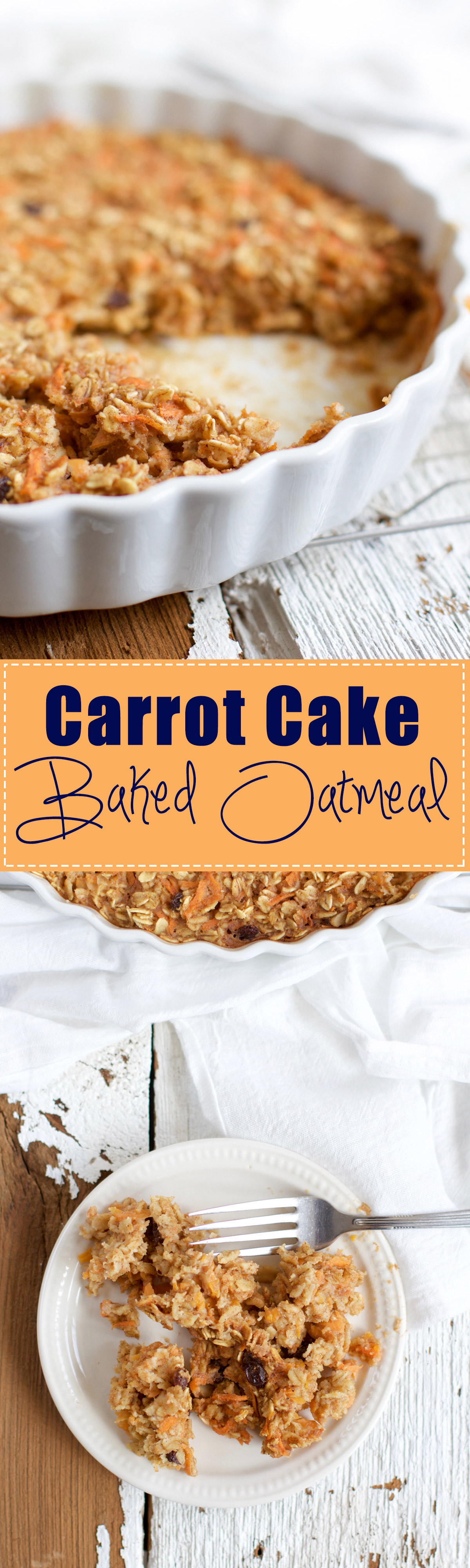 Carrot Cake Baked Oatmeal - A breakfast that tastes like carrot cake but is actually healthy? Yes, please! Perfect for a feeding a crowd of guests for Easter brunch. Made with whole ingredients, and plenty of walnuts, raisins, and cinnamon-y flavor. | rootsandradishes.com