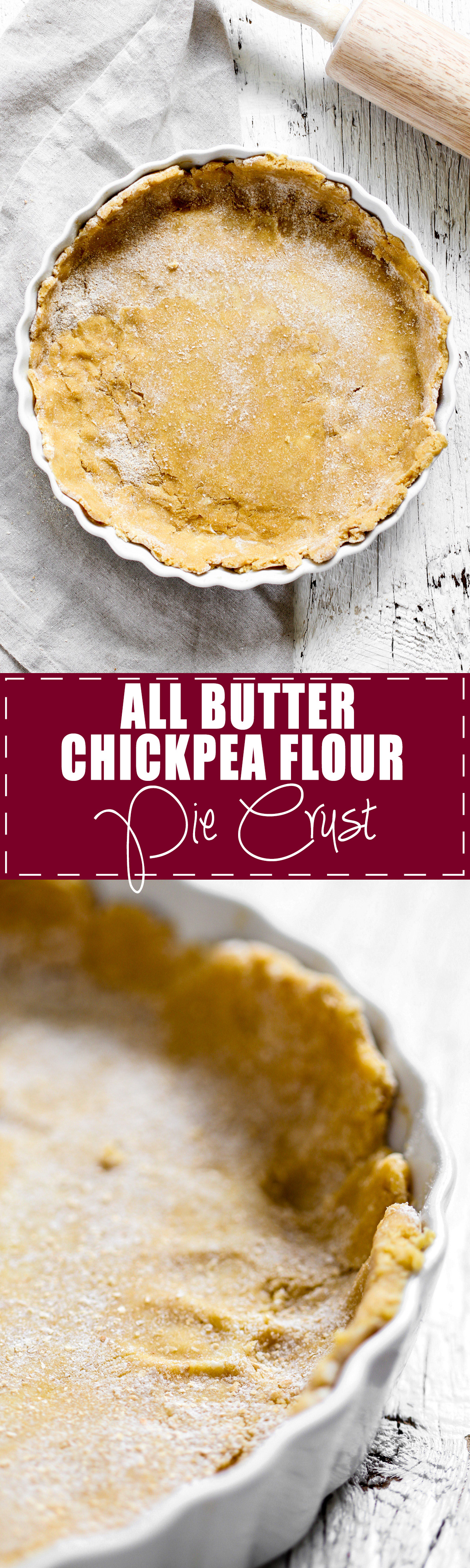 Chickpea Flour Pie Crust - This all butter chickpea flour pie crust is high protein, fiber, flavor, and is gluten free! Use it in quiches or any savory dish requiring pie crust. Everyone needs a clean and nutritious pie crust recipe! | rootsandradishes.com