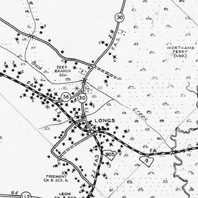 Laurens County Old Scdot Maps