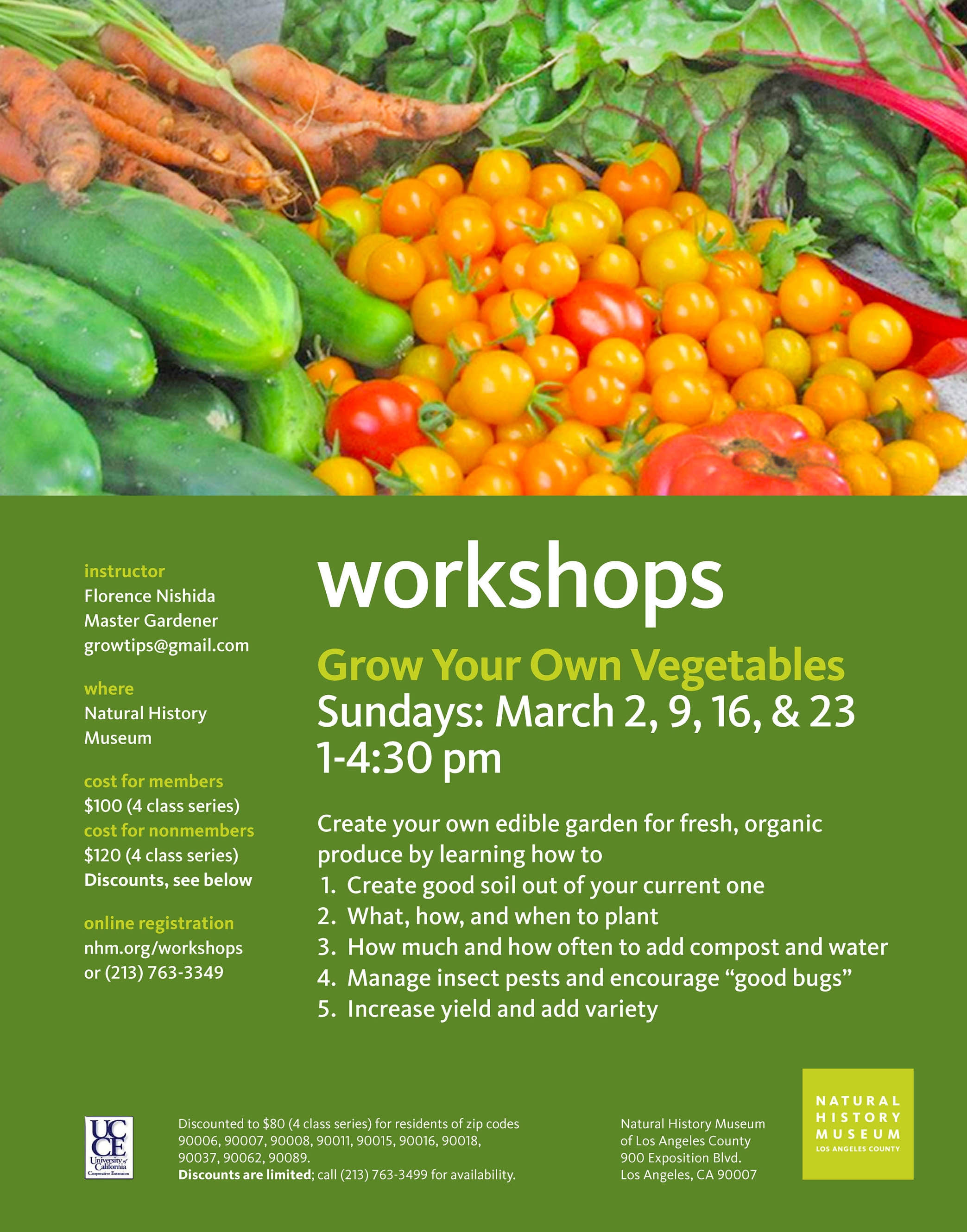 Vegetable Gardening Workshops At The Natural History