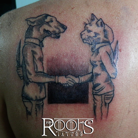 Tatuaje Como Perros Y Gatos Roots Tattoo Granada