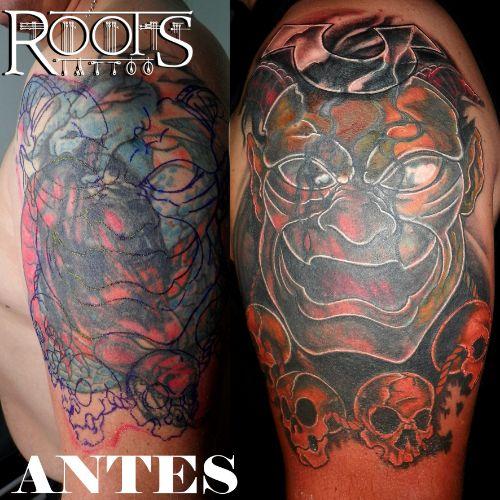 Tapado De Tatuaje De Dragones Con Demonio Japonés Destacado 12