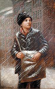Image result for newsboy painting
