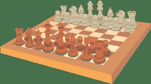 cartoon image of a chess set
